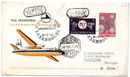 Carta Con Matasellos Luxemburgo-barcelona 1965 - Luxemburgo