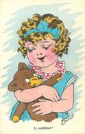 RPCP : Ilustratoren Gehandtekend. Germaine Bouret, Photo Of Old Postcard, 2 Scans - Signiert