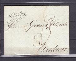 10/11/1811 DEPARTEMENTS CONQUIS 128 LUBECK B DE L'ELBE - Marcofilia (sobres)