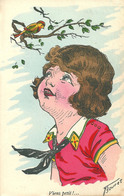RPCP : Ilustratoren Gehandtekend. Illustrateur, Germaine Bouret, Photo Of Old Postcard, 2 Scans - Signiert