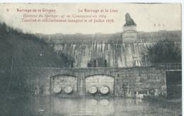 Barrage De La Gileppe - Le Barrage Et Le Lion - 1909 - Gileppe (Barrage)