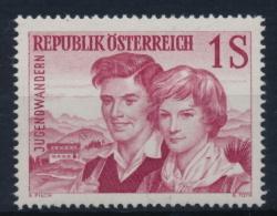 """**Österreich Austria 1960 ANK 1118 Mi 1076 (1) Error Plattenfehler """"Riss Im Halstuch"""" Youth Hiking Mountains MNH - 1945-60 Ungebraucht"""