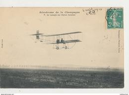 AERODROME DE LA CHAMPAGNE P DE LESSEPS SUR BIPLAN SOMMER CPA BON ETAT - 1914-1918: 1a Guerra
