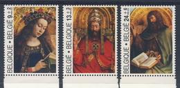 "Belgie Belgique Belgium 1986 Mi 2257 /9 YT 2206 /8 SG 2868 /0 ** Altarpiece ""Mystic Lamb"" / 't Lam Gods - Van Eyck - Tableaux"