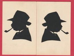 2 Cartes Montrant Une Silhouette ... Maigret ??? ( Voir Verso ) - Silhouettes
