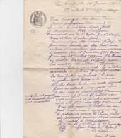 LA LOUPE CONTRAT D APPRENTISAGE DE MR BRUNET SOUANCE AU PERCHE CHEZ MR FRET COIFFEUR RUE DE L EGLISE A LA LOUPE EN 1918 - Petits Métiers