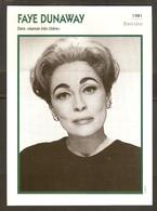PORTRAIT DE STAR 1981 ÉTATS UNIS USA - ACTRICE FAYE DUNAWAY - UNITED STATES USA ACTRESS CINEMA FILM PHOTO - Fotos