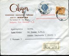 Italia (1972) - Raccomandata 2 Porti Da Mestre (VE) - 1946-.. République