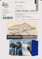 Lot 3 Billets Tickets Entrées MUsée Guggenheim Bilbao, Cité Du Vin Wine City Bordeaux, Ile De Gaztelugatxe Island 2019 - Tickets - Vouchers