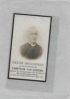 LODEWIJK VAN ACHTER:  PASTOOR -PRIESTER- GEERAARDSBERGEN-LEDE-SEGELSEM-EECLOO-MELSELE-WANZELE - Décès