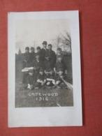 RPPC Baseball Team Gatewood  1916 Missouri  Out Of Album Black Paper Residue On Back >  Ref  3856 - Baseball