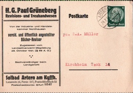 ! 2 Belege 1933-34 Aus Artern - Storia Postale