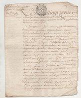 Montlouis Indre Et Loire 1787 - Manuscripts