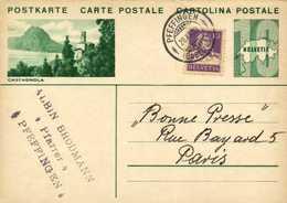 ENTIER POSTAL 10  HELVETIA + Timbre 10 CASTAGNOLA     + Beau Cachet PFEFFINGEN (BASEL)  RV - Postwaardestukken