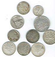Lot De 10 Pièces Argent,diverses. - Coins & Banknotes