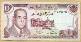 Maroc - Billet De 10 Dirhams 1970 - Maroc