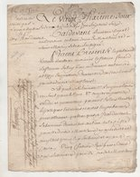 Bas Rocher Montlouis Indre Et Loire 1787 Vente De Vignes - Manuscripts