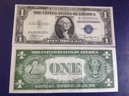 USA   $ 1  Silver Certificate 1935A. Blue Seal P416a - California