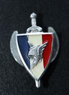 """WWII Insigne De Boutonnière Etat Français """"Légion Française Des Combattants (LFC) Casque Gaulois"""" Augis à Lyon - WW2 - 1939-45"""