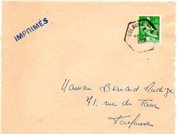 GARONNE / Haute - Dépt N° 31 = TOULOUSE B - 1958 ? =  CACHET HEXAGONAL D6 Ou 7 = RAU / RECETTE AUXILIAIRE URBAINE - Bolli Manuali