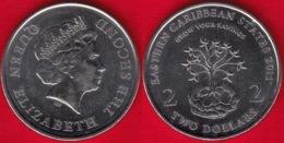 """Eastern Caribbean States 2 Dollars 2011 Km#87 """"Financial Information Month"""" UNC - Ostkaribischer Staaten"""