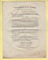 Ministre De La Guerre - 15 Floreal An 12 - 26e Et 27e Divisions - Veterans - Departement De La Manche - Documents Historiques