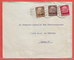 ALLEMAGNE OCCUPATION EN ALSACE LETTRE CENSUREE DE 1940 DE MULHOUSE POUR PARIS FRANCE - Occupation 1938-45