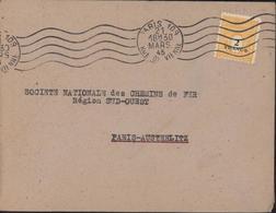YT 709 Arc De Triomphe Seul Sur Lettre CAD Paris 109 Rue De Vienne 21 Mars 45 Cote 30 Euros - Poststempel (Briefe)