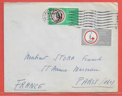 IRLANDE LETTRE DE 1965 POUR PARIS FRANCE CROIX ROUGE - 1949-... Repubblica D'Irlanda