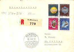 [902859]TB//-Suisse 1948 - ST.MORITZ, Recommandé, Jeux Olympiques, Sports, Athlétisme - Olympische Spiele