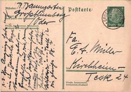 ! 1 Beleg 1934 Aus Grossblumberg An Der Oder, Einkreisstempel - Allemagne