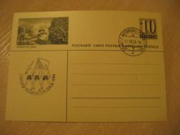 AESCHI Bei SPIEZ 1954 Automobil Cancel Postal Stationery Card Frutigen-Niedersimmental Bern SWITZERLAND - Suisse