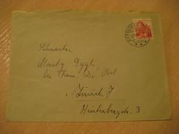 AFFOLTERN Am ALBIS 1941 Stamp On Cancel Cover Zurich SWITZERLAND - Suisse