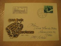 ALTSTATTEN 1953 1100 Jahre Automobil Postbureau Cancel Card Rheintal St. Gallen SWITZERLAND - Suisse