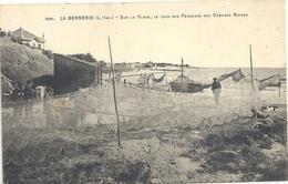 CPA La Bernerie Sur La Plage Le Coin Des Pêcheurs Des Cabanes Noires - La Bernerie-en-Retz