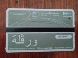 Ticket Tramway Ouargla Algérie - Tramways