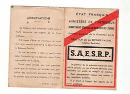 Laissez Passer Defense Passive Alerte Aérienne 1944 - Dokumente