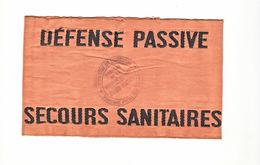 Brassard Defense Passive Secours Sanitaires WW2 - Dokumente