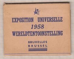 9AL2617 CARTE POSTALE Carnet 10 Vues 9.5 X 7.5 Cm BRUXELLES EXPO UNIVERSELLE - Universal Exhibitions