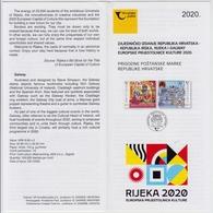 CROATIA OFFICIAL COMMEMORATIVE PROSPECTUS 2020 RIJEKA (CROATIA) & GALWAY (IRELAND) EUROPEAN CAPITALS OF CULTURE - Briefmarken
