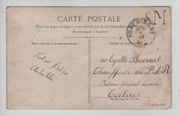 140PR/ CP Patriotique Albert 1er En S.M. CPoperinghe 1/4/19 Année Grattée > Militaire Bateau Général Leman Calais - Zone Non Occupée