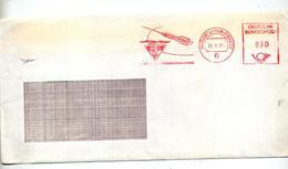 Lettre Flamme Ema Frankfurt AFI Golden Rocket Service Theme Fusée - [7] République Fédérale