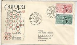 MADRID SPD FDC EUROPA CEPT 1962 ABEJA BEE - Bienen