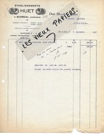 08 - Ardennes - ECORDAL - Facture HUET - 1927 - REF 131A - France