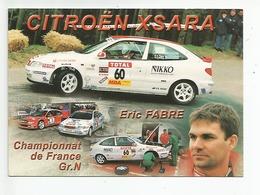 CITROËN XSARA - Eric Fabre / Corinne Murcia - Championnat De France Gr N - Année 2000 - Rally Racing