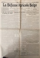 Journal La Défense Agricole Belge 1938. - Kranten