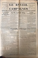 Journal Le Réveil Des Campagnes 1938. - Journaux - Quotidiens