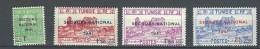 """Tunisie YT 227 à 230 """" Secours National """" 1941 Neuf** - Oblitérés"""