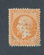 FRANCE - N°23 OBLITERE ANCRE BLEUE - 1862 - 1862 Napoléon III.