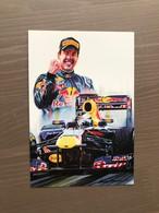 Cartolina Del 2011 Dedicata A Sebastian Vettel Da Un Dipinto A Tempera Di Giovanni Cremonini - Grand Prix / F1